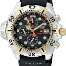 Citizen BJ2004-08E Eco Drive Aqualand Chronograph Solar Chrono Aqua Men's