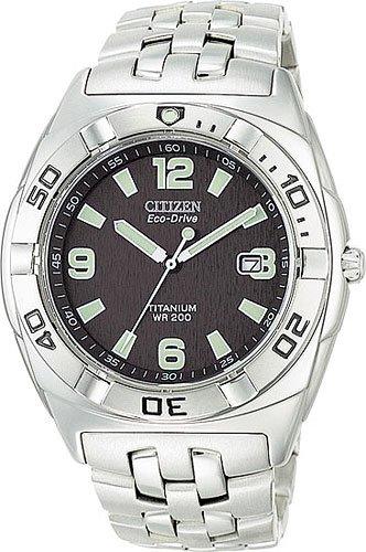 Citizen BM0960-59E Eco-Drive Titanium Professional Diver Blue Dial Men's
