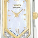 Citizen EG2084-68D Eco-Drive Silhouette Two Tone Diamonds Ladies