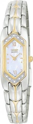Citizen EG2084-68D Eco-Drive Silhouette Two Tone Diamonds Ladies