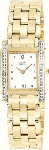 Citizen EG3052-51A Stiletto Diamond Gold Tone Ladies