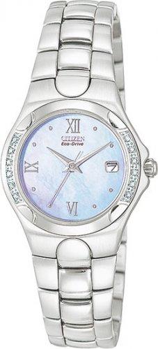 Citizen EW0240-53N Eco-Drive Corso Blue Mother of Pearl Diamonds Ladies