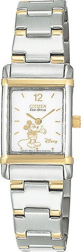 Citizen EW8284-54C Disney Eco-Drive Two Tone White Dial Ladies