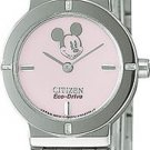 Citizen EW8430-54W Disney Eco-Drive Stainless Steel Bracelet Pink Dial Ladies