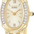 Citizen EW8492-57P Silhouette Diamond Gold Tone Ladies