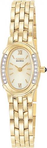 Citizen EW8492-57P Silhouette Diamond Gold Tone Ladies