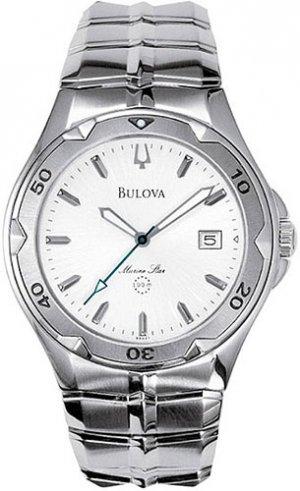 Bulova 96G37 Silver Dial Marine Star Men's