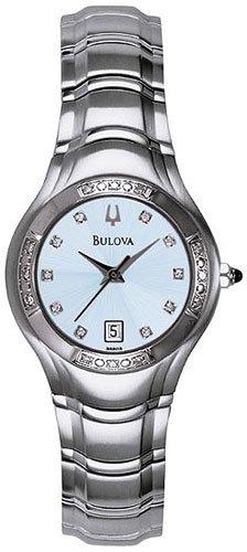 Bulova 96R02 Diamond Bezel Ladies