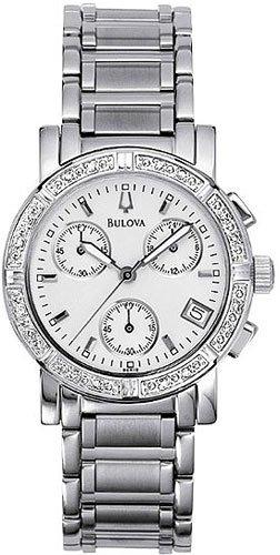 Bulova 96R19 Diamond Chronograph Ladies