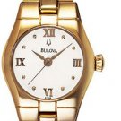 Bulova 97T88 Gold Tone Bracelet Ladies