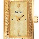 Bulova 98R86 Gold Tone Dress Watch with Diamonds Ladies