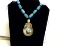 turquis&spoon necklace