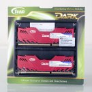Team Dark 16GB (2 x 8GB) 240-Pin DDR3 SDRAM DDR3 2400 (PC3 19200) Desktop Memory, Red Heatsink