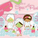 Spa- Sleep Over - Pajama party custom Birthday Invitation 1 - Printable