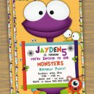 Monster Custom Birthday Party Invitation- printable