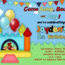 Custom Bounce house Birthday Party Invitation