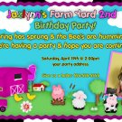 Farm Girl or Boy Birthday Invitation - Farm Animals Printable girl Barnyard - Custom Photo