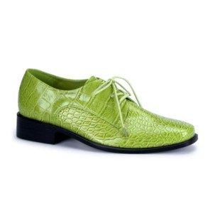 Men's Lime Alligator Shoe  S (8-9)