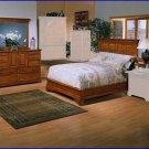 Winners Only Furniture Americana 2 Piece California King Bed, Dresser Bedroom Set WO-BA1061CK-6669