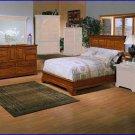 Winners Only Furniture Americana 2 Piece California King Bed, Dresser Bedroom Set WO-BA1061CK-66