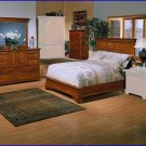 Winners Only Furniture Americana 3 Piece Cali King Bed, Dresser, Chest Bedroom Set WO-BA1061CK-3SET