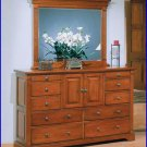 Winners Only Furniture Americana Cherry 11 Drawer Dresser with Mirror WO-BA1066-69