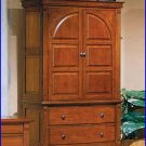 Winners Only Furniture Americana Cherry Wood 2 Drawer Armoire Base and Top WO-BA1068AB