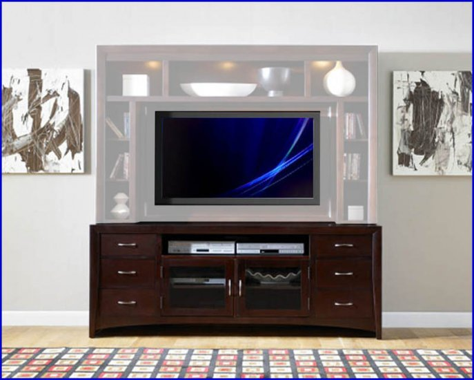 Liberty Furniture New Generation 75 Inch Merlot Tv Stand