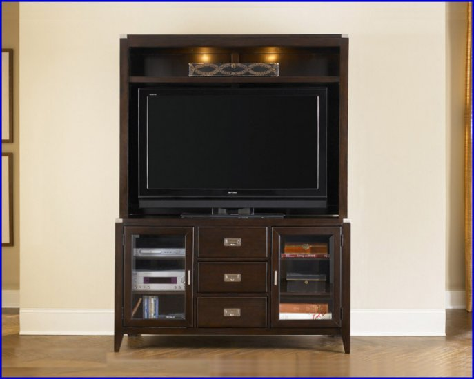 Liberty Furniture Harbor Town 59 Inch Cherry Wood TV Wall Entertainment Center LF-349-ENT2