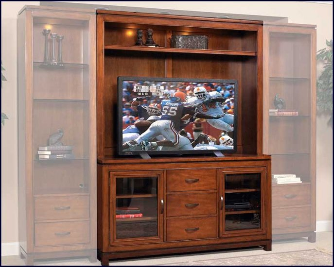 Liberty Furniture Shadow Valley 59 Inch Cherry Wood TV Wall Entertainment Center LF-373-ENT2