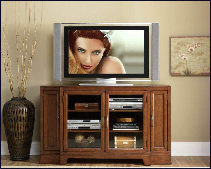 Liberty Furniture Weston Transitional 60 Inch Cherry Wood TV Stand Console LF-323-TV60