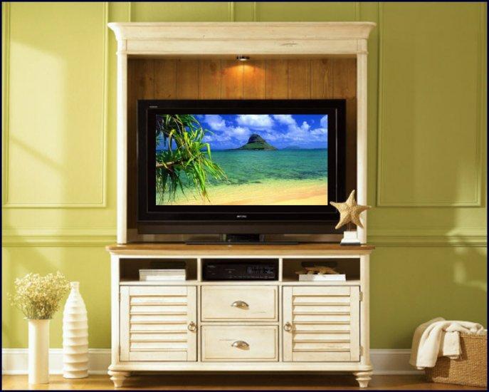 Liberty Furniture Ocean Isle 55 Inch White Pine Wood TV