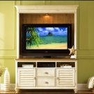 Liberty Furniture Ocean Isle 55 Inch White Pine Wood TV Entertainment Center LF-303-ENT