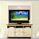 Liberty Furniture Ocean Isle 63 Inch White Pine Wood TV Stand Console LF-303-TV00