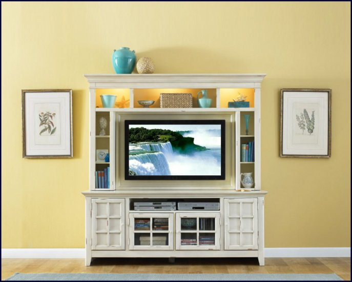 Liberty Furniture New Generation 52 Inch White Wood TV Entertainment