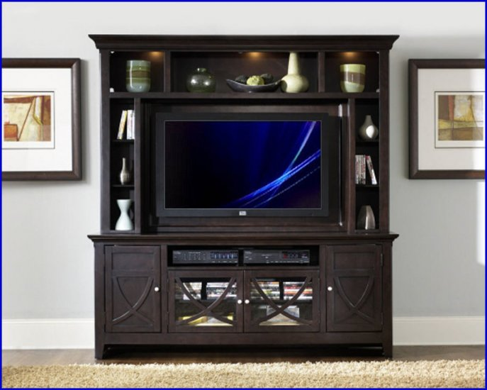 Liberty Furniture Piedmont 52 Inch Dark Mocha Wood TV Entertainment Center LF-955-ENT