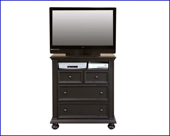 Winners Only Furniture Cape Cod Ebony Black Bedroom Height 38 Inch TV Stand Chest WO-BE1007TV