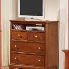 Winners Only Furniture Topaz Cinnamon 38 Inch Bedroom Height TV Stand Chest WO-BT2007TV