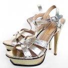 "Fashion women ""ysl high-heel golden sandal"
