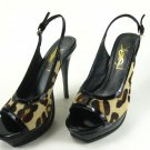 "Newest  women high heel peeptoe shoes ""ysl leopard"