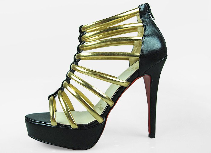 "Hot selling women high heel net sandal ""cl red sole"