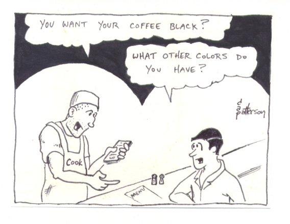 Dave Patterson Original newave comix art 1980 - coffee