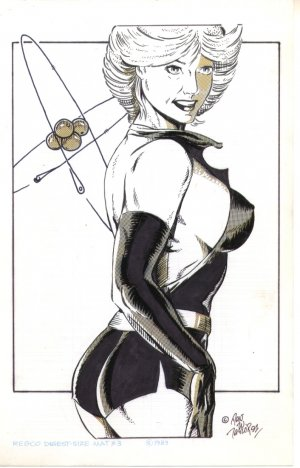 Dan W. Taylor original pin up comix artwork 1991