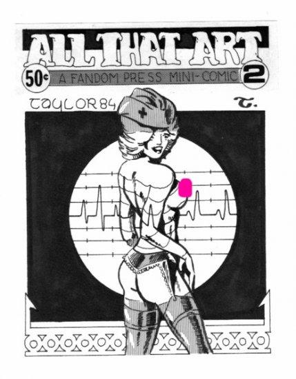 original pin up art mini comic cover