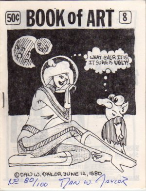 Book of Art no. 8 newave comix 1980 signed and numbered
