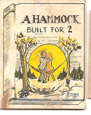 Risque joke card - Hammock built for 2