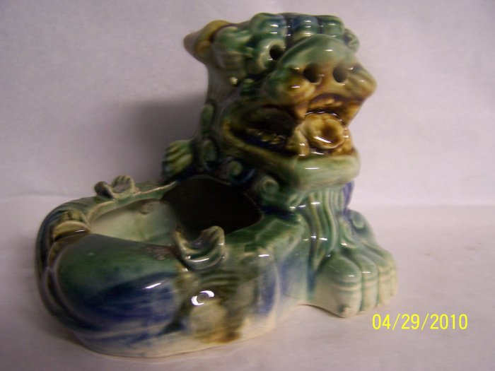 ***SOLD***China Dragon Ashtray & Incense Burner