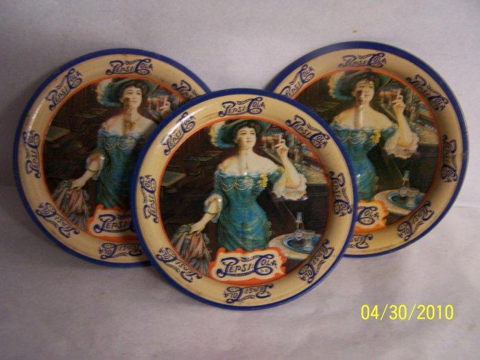 4 Vintage Pepsi Small Trays