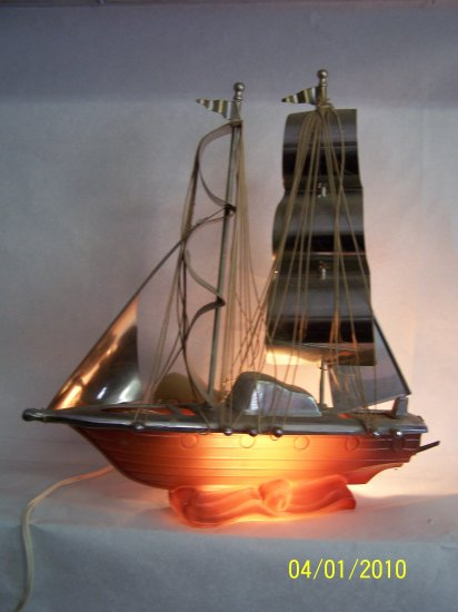 Unique Glass Boat Lamp