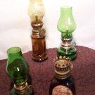 4 Vintage MIni Oil Lamps